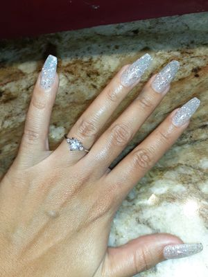 Real silver white cz heart shape ring size 7 for Sale in Houston, TX