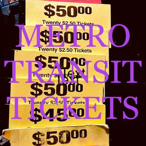 METRO TRANSIT TICKETS ($365 Value) for Sale in Seattle, WA