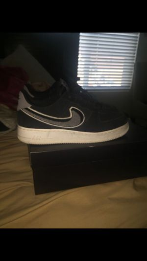 NIKE AIR FORCE ONES BLACK/ GREY for Sale in Oakley, CA