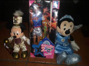 Walt Disney World Collectibles to plush toys 1 collectible Mattel Barbie doll for Sale in Hawthorne, CA