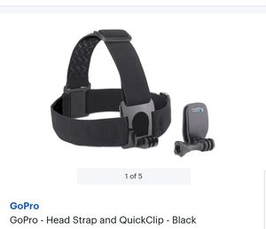 GoPro Head Strap + QuickClip for Sale in Tampa, FL