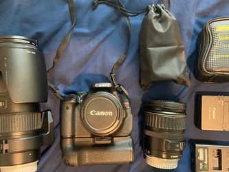 Canon T3i (600D) + Lenses & Accessories for Sale in Princeton,  TX