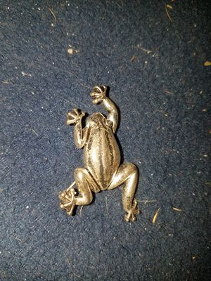 Silver colored Metal Frog Brooch Pin for Sale in Littleton, CO