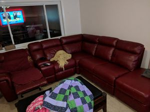 Faux leather sofa recliner set for Sale in Manassas, VA
