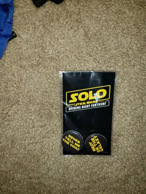 Star Wars: Solo - Exclusive Pins! for Sale in Alexandria, VA
