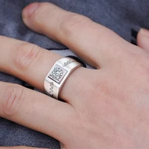 Unisex- Stamped 925 Sterling Silver Diamond Ring for Sale in Houston, TX
