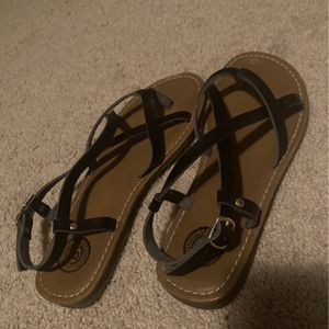 Women's Strappy Sandals - Black for Sale in Bloomington, IL