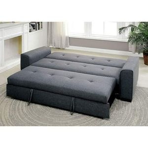 GREY LINEN FABRIC FUTON SOFA ADJUSTABLE BED / SILLON CAMA for Sale in North Hollywood, CA