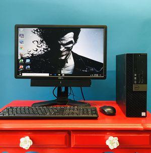 "Complete Computer Setup Dell Optiplex 5040 i5 6th gen HDMI, 8gb ram, 22"" monitor and Soundbar for Sale in Roselle, NJ"