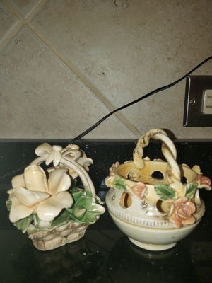 Italian porcelain decorative baskets for Sale in Chicago, IL