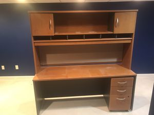 Large Desk with Hutch for Sale in Hopkinton, MA