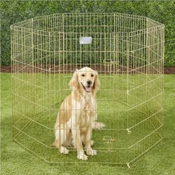 *NEW* MidWest Wire Dog Exercise Pen with Step-Thru Door, Gold Zinc, 42-in for Sale in Phoenix,  AZ