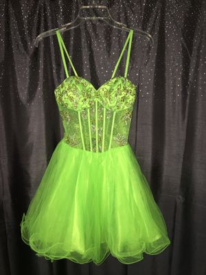 NEON GREEN CORSET DRESS SIZE 0 for Sale in Los Angeles, CA