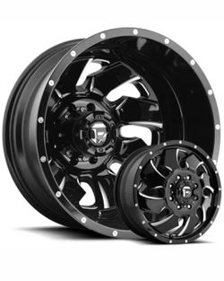 """20"""" Fuel Clevers 20x8.25 Dually Wheels Ford Chevy Dodge Direct Bolt 8 Lug Tires Available for Sale in Bellflower,  CA"""