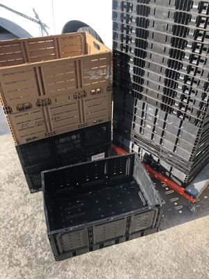 LARGE Heavy-Duty Collapsible Storage Bin Folding Basket CRATE Container Storage. for Sale in Port St. Lucie, FL