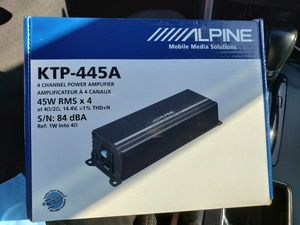 Alpine 4 Channel Amp for Sale in Fort Washington, MD