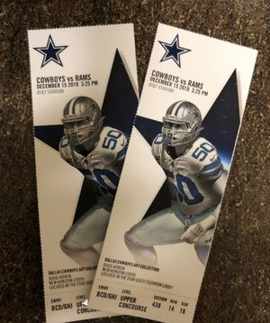 Cowboys vs Rams Sunday Dec 15!! for Sale in Dallas, TX
