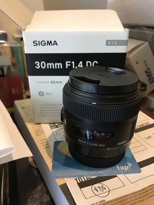 Sigma 30mm F1.4 DC (Open Box) for Sale in Santa Ana, CA