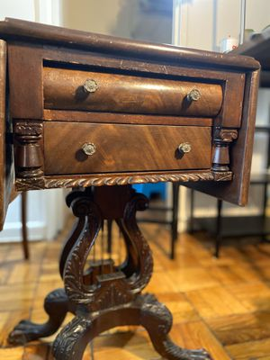 Antique wood table with lion paws for Sale in Rockville, MD