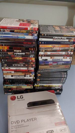 60+ dvds and player for Sale in Everett, WA