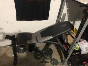 Weights set with bench for Sale in Katy, TX