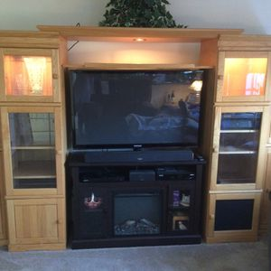 Oak Entertainment Center for Sale in Middle Island, NY