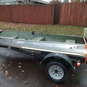 12 Foot Aluminum Boat With Tags, Title, And Trailer. for Sale in Portland, OR