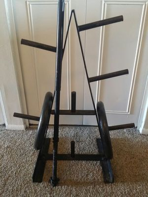 100lbs weights, bar and weight tree for Sale in Deerfield Beach, FL