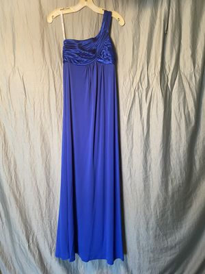 Long blue one shoulder dress size 2 for Sale in Wylie, TX