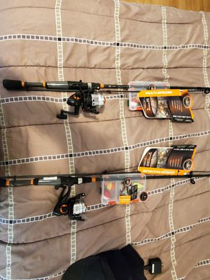 2 ready to fish poles with tackle for Sale in Tacoma, WA