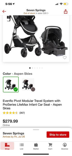 evenflo baby stroller/car seat combo for Sale in Port Richey, FL
