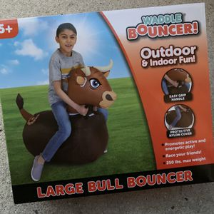 Waddle Bouncer - Large Bull Inflateable Bounce Toy - Brand New - Holds Up To 250lbs Of Weight for Sale in Fort Lauderdale, FL