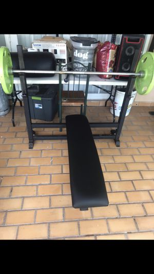 BFS bench for sale commercial grade sturdy great condition with new seats for Sale in Miami, FL
