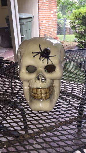 Halloween skull decoration ceramic for Sale in Montgomery, AL