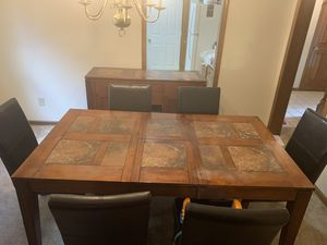 Dining set table w/6 chairs and server. Great condition. for Sale in Dublin, OH