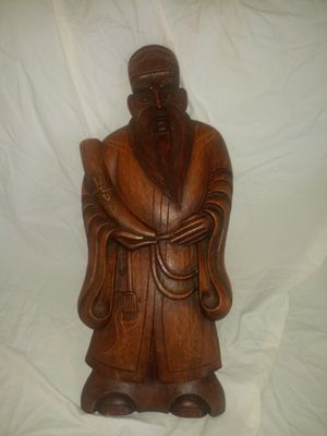 Chinese Monk wooden carved for Sale in Pinellas Park, FL