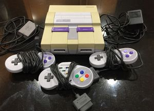 Super Nintendo with 3 Controllers and Cables for Sale in Miami, FL