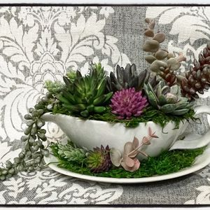 NEVER WATER AGAIN! Faux Succulent Arrangement for Sale in Upland, CA