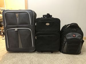 REDUCED PRICE: Wheeled Luggage (at $25 & $15); backpack was sold for Sale in Rochester, MN