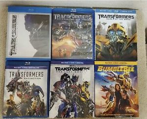 Bumblebee & Transformers Ultimate 6-Movie Collection Blu-Ray NEW, Disney Marvel DC Harry Potter the Star Wars movies 3D Bluray and dvd collectors for Sale in Everett, WA