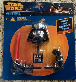 Darth Vader Stars Wars Push-in Pumpkin Decorating Kit for Sale in Herndon, VA