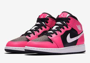 Jordan 1 Mid Hot Pink sizes 4y-7y for Sale in Long Beach, CA