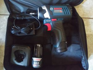 Bosch Impact 1/4 2 batteries and charger for Sale in Phoenix, AZ