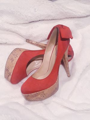 Red sexy heels size 8 for Sale in Riverside, CA