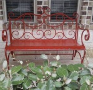 Red Metal Bench for Sale in Richmond, TX