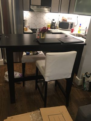 High top black kitchen table or home office desk for Sale in Brooklyn, NY