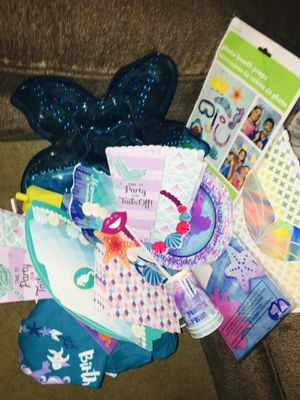 Mermaid 🧜🏻♀️ party stuff really cute for Sale in Corona, CA