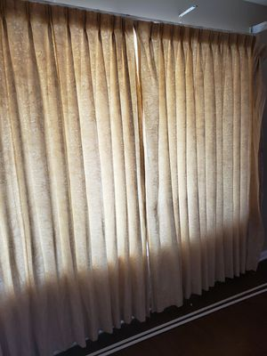 Cream/Tan Curtains 84 in long for Sale in Pittsburg, CA