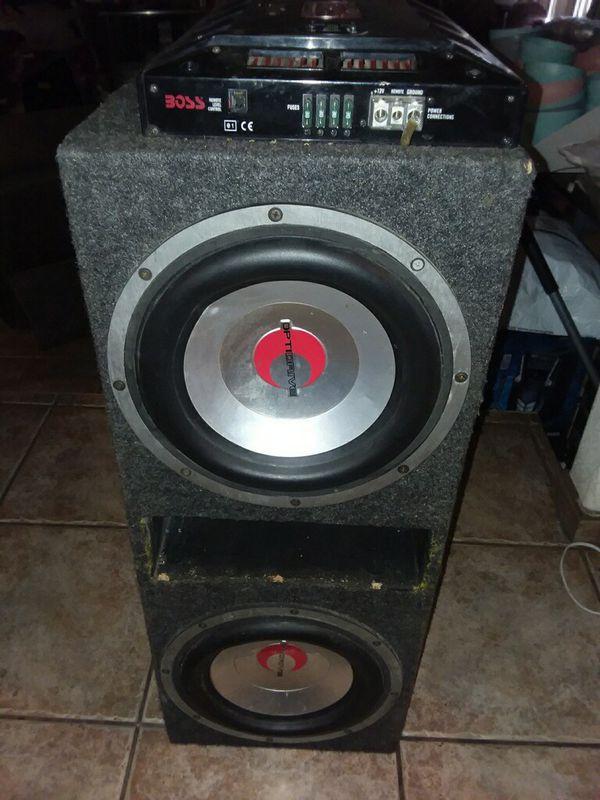 BOSS OUTLAW 5,000w amplifiers.