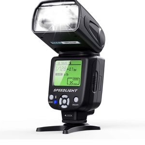 ESDDI Camera Flash Speedlite, LCD Display, Multi, for Canon Nikon Olympus Pentax DSLR and Digital Cameras with Standard Hot Shoe for Sale in Glendale, AZ
